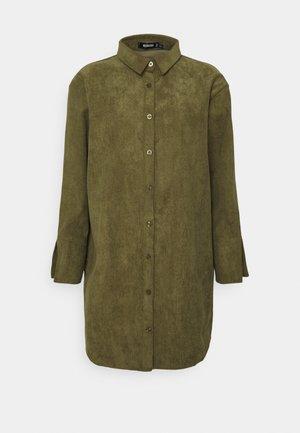 MINI DEEP CUFF DRESS - Shirt dress - khaki