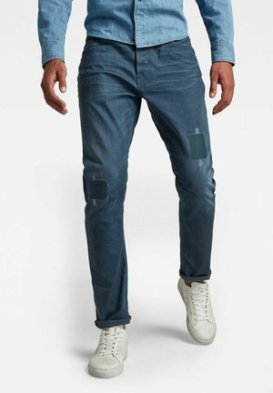 A-STAQ TAPERED - Jeans Tapered Fit - worn in rivulet patch restored