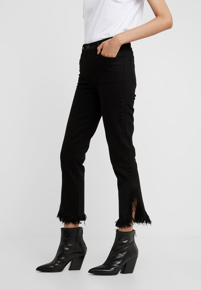 RUBY CROP  - Jeansy Straight Leg - black