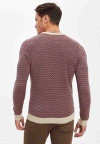 DeFacto - Stickad tröja - red - 1