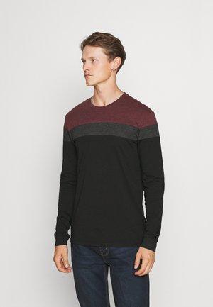 Long sleeved top - bordeaux/dark