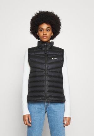 DWN VEST - Waistcoat - black/black/(white)