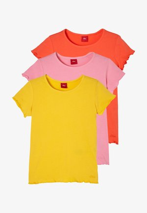 Basic T-shirt - yellow pink orange