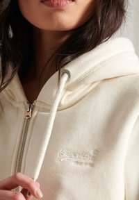 Superdry - ORANGE LABEL - Zip-up sweatshirt - rodeo white - 1