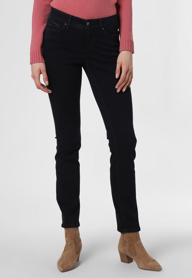 Slim fit jeans - marine schwarz