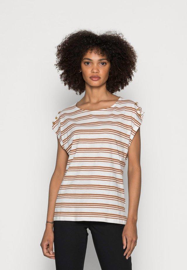 BUTTON - T-Shirt print - off white