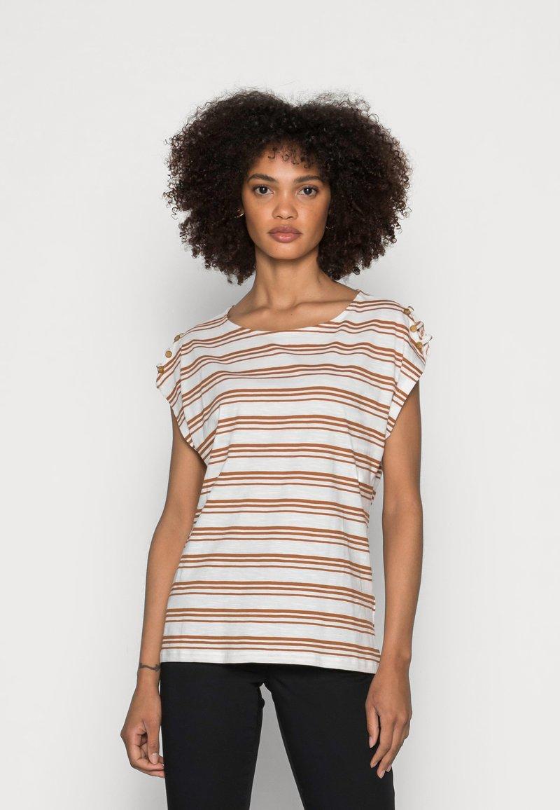 Esprit - BUTTON - Print T-shirt - off white