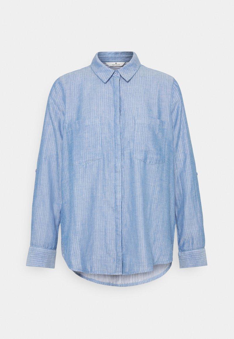 TOM TAILOR - CHAMBRAY LOOK - Koszula - stonington blue