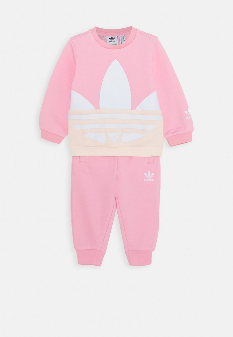adidas Originals - BIG TREFOILCREW SET - Felpa - pink/white