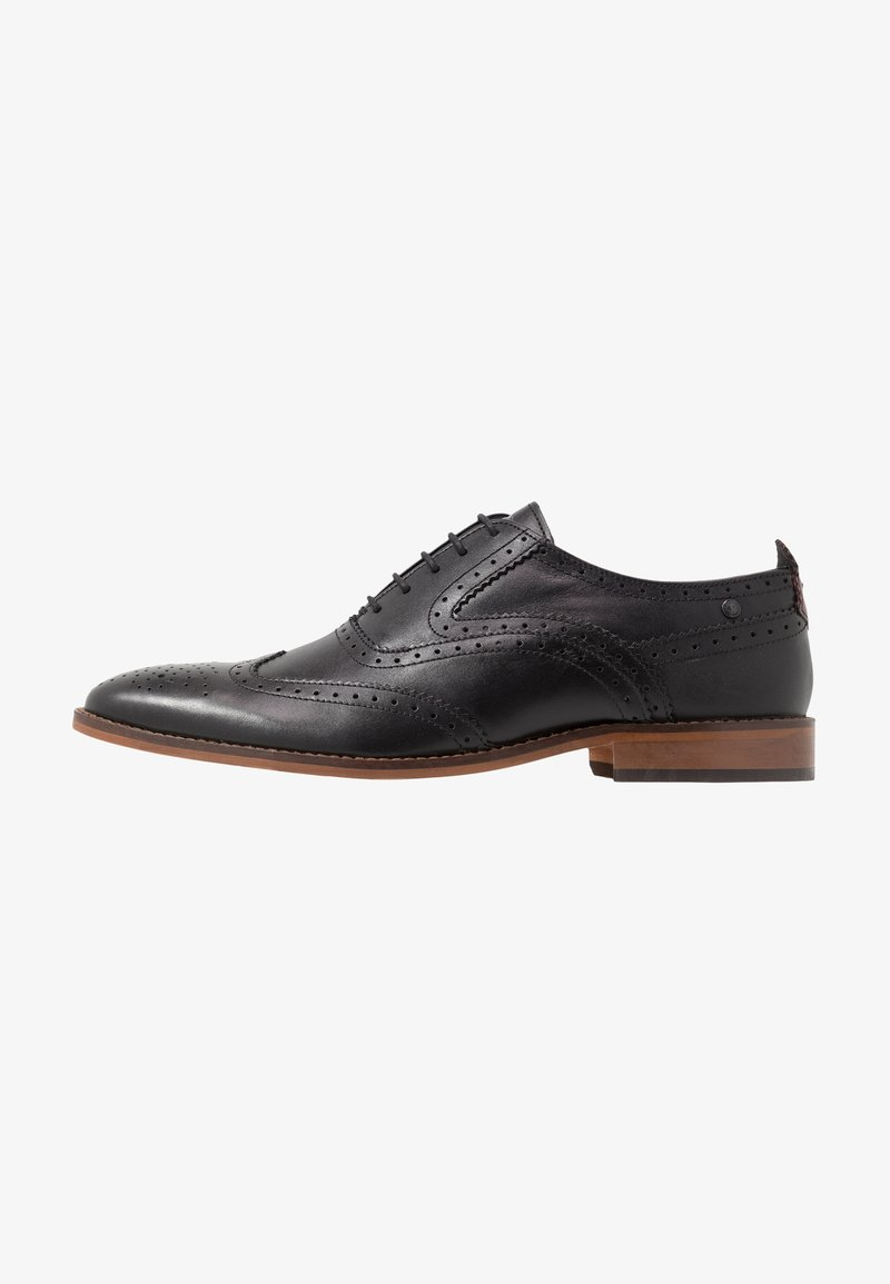 Base London - FOCUS - Smart lace-ups - waxy black