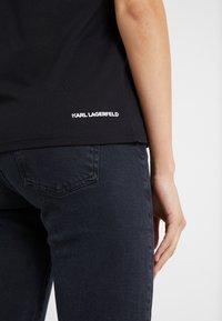 KARL LAGERFELD - IKONIK LOGO - T-shirts med print - black - 3