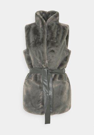 ONLOLLIE WAISTCOAT - Vest - charcoal gray