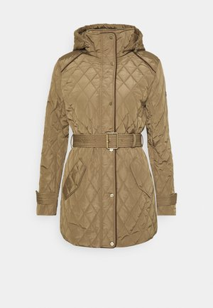 JACKET BELT - Winter coat - sand