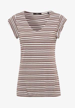 Print T-shirt - almond