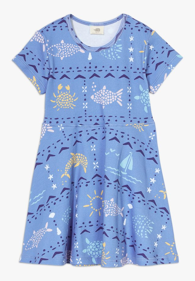 MOSAIC ANIMALS DRESS - Vestito di maglina - blue