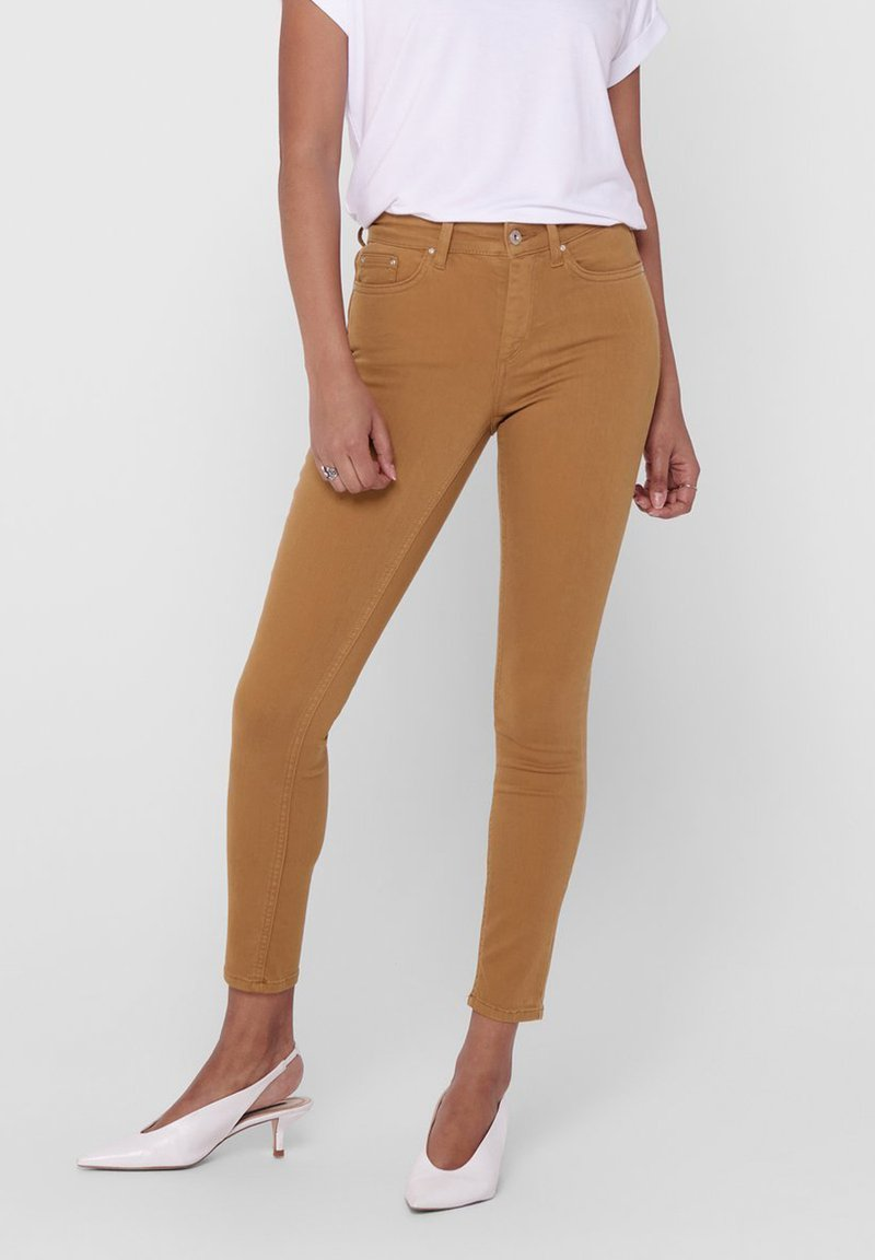 ONLY - ONLY SKINNY FIT JEANS ONLBLUSH MID ANKLE - Jeans Skinny Fit - chipmunk