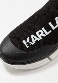 KARL LAGERFELD - VENTURE - Sneakersy wysokie - black/white - 5