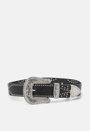 PCISABELT WAIST BELT - Pásek - black/silver-coloured