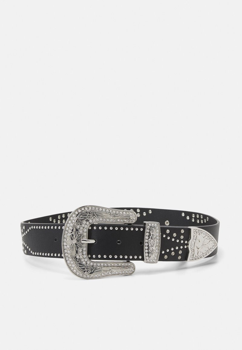 Pieces - PCISABELT WAIST BELT - Waist belt - black/silver-coloured