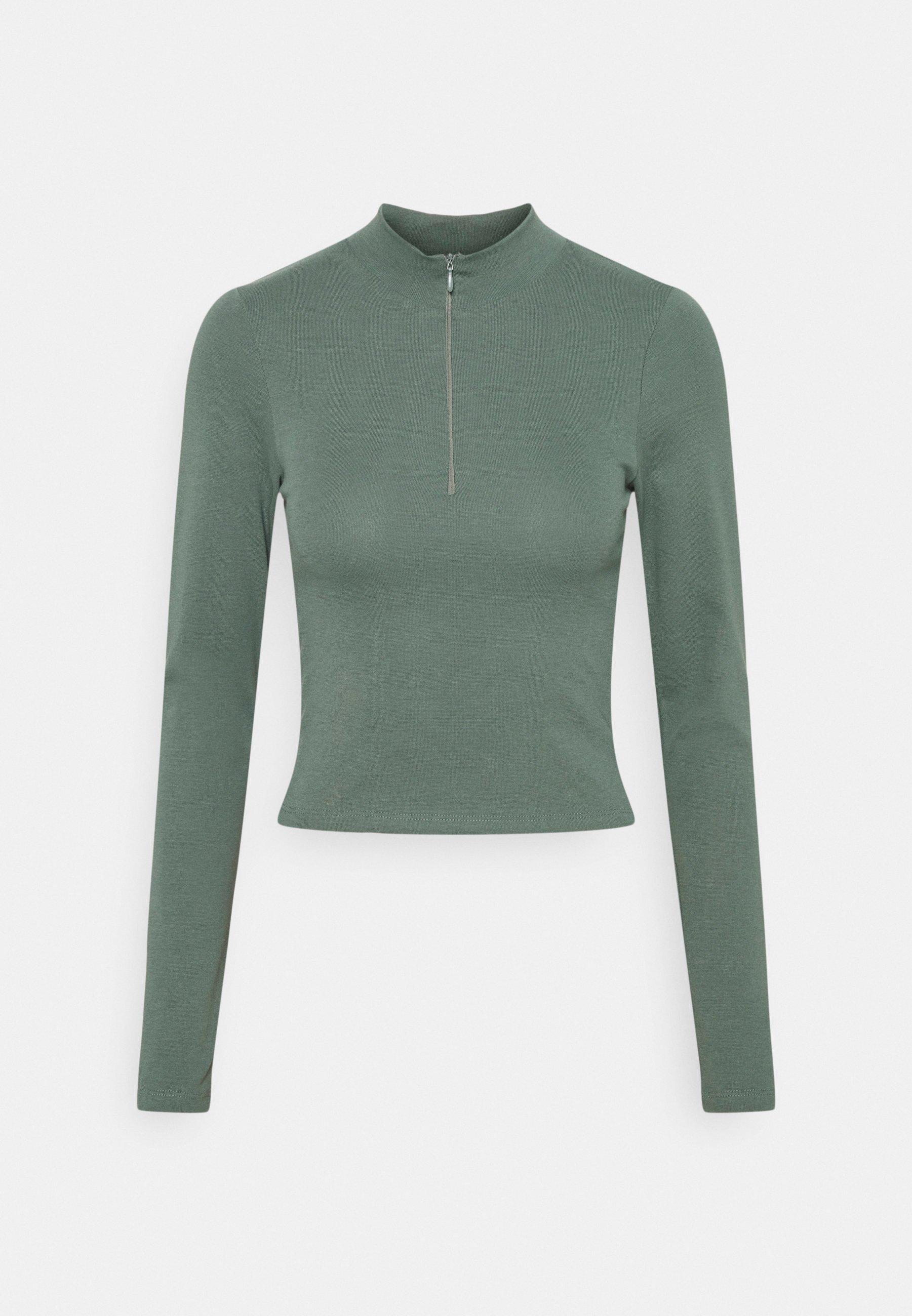 Women SPORTY ZIP - Long sleeved top