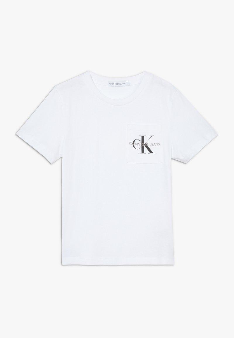 Calvin Klein Jeans - MONOGRAM POCKET  - T-shirt print - white