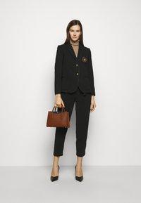 Lauren Ralph Lauren - CROSSHATCH EMERY - Handbag - tan/black - 0