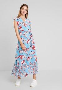YAS - YASVAMILLA ANKLE DRESS  - Maxi dress - bonnie blue/vamilla - 0