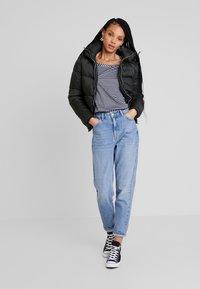G-Star - VIM LOOSE - Print T-shirt - grey htr/mazarine blue stripe - 1