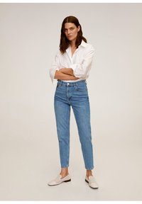 Mango - Relaxed fit jeans - mittelblau - 1