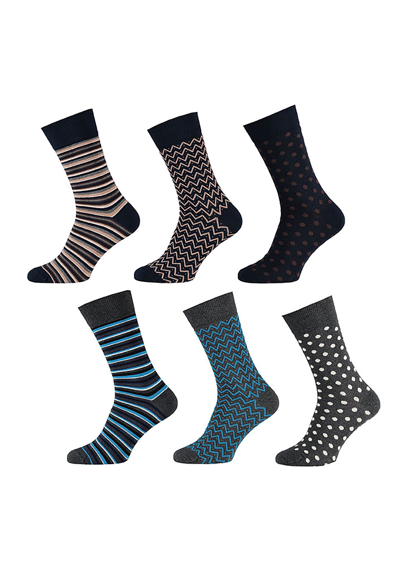 Homme 6 pack - Chaussettes