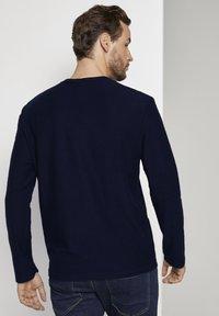TOM TAILOR - MIT LOGO-PRINT - Long sleeved top - dark blue - 2