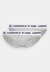 KARL LAGERFELD - LOGO BRIEF 2 PACK - Briefs - heather grey - 3
