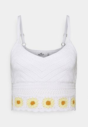 BARE CROCHET BRALETTE - Top - white