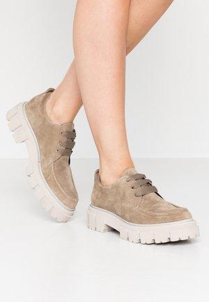 VIDA - Šněrovací boty - biscuit