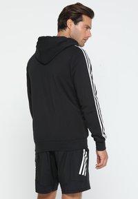 adidas Performance - Bluza rozpinana - black/white - 2