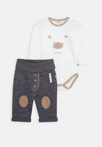 Jacky Baby - WILD WILD WEST SET - Broek - off white/dunkelblau - 0