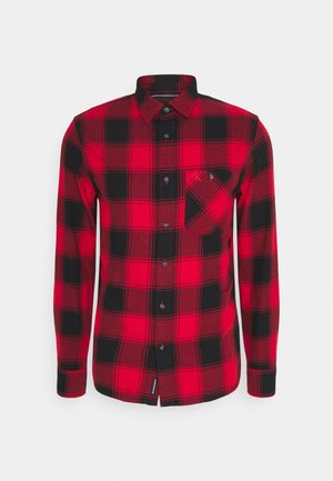 GRUNGE CHECK - Skjorta - red hot