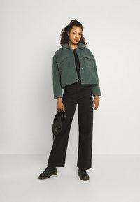 ONLY - ONLMARINA CROP JACKET - Light jacket - balsam green - 1