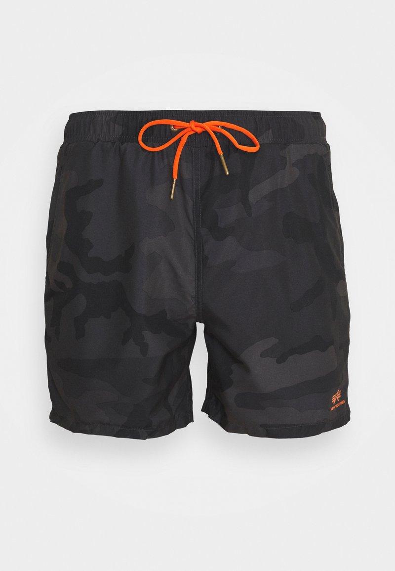 Alpha Industries - BASIC SWIM - Swimming shorts - black