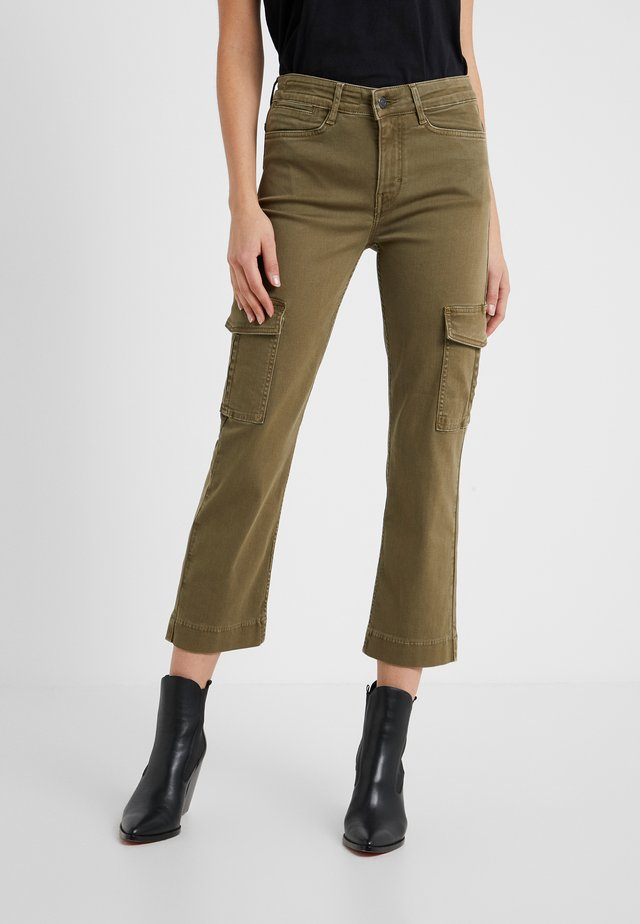 OUTBOUND - Cargo trousers - olive