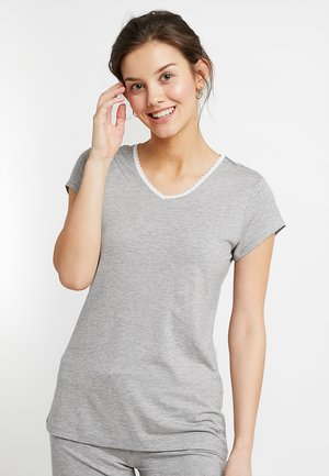 SINGLE SHORT SLEEVE - Pyjama top - medium grey