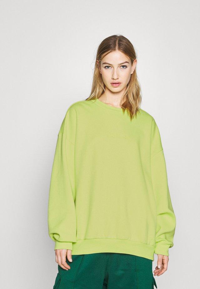 Sweatshirt - neon green
