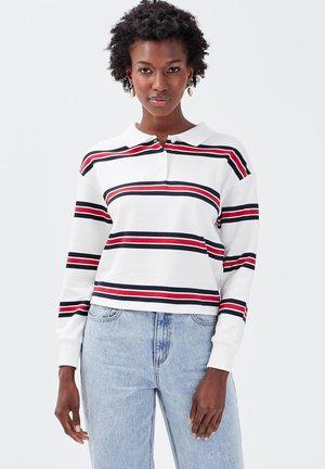 MANCHES LONGUES - Polo shirt - blanc