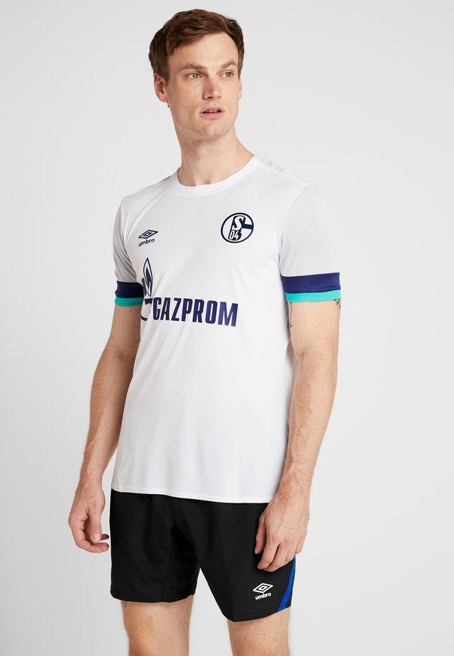 FC SCHALKE 04 AWAY - Pelipaita - brilliant white/gray dawn/blueprint/arcadia