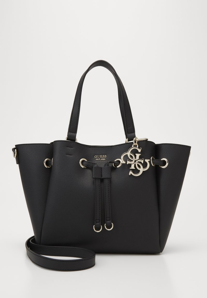 Guess - DIGITAL DRAWSTRING BAG - Handbag - black