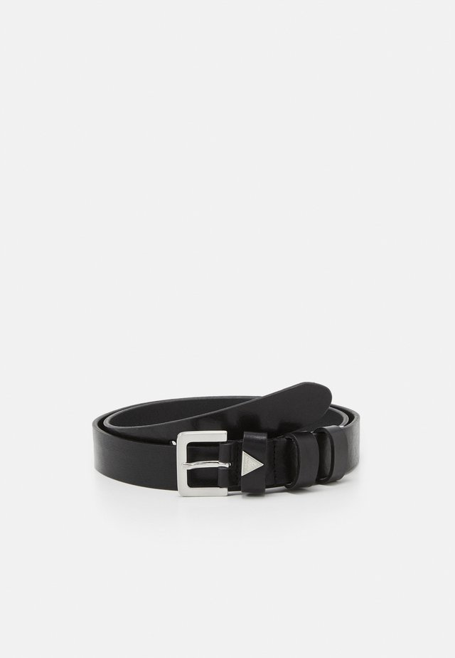 BELT TRIANGLE LOGO DOUBLE KEEPER - Pásek - black