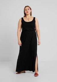 New Look Curves - TIE STRAP - Maxi dress - black - 0