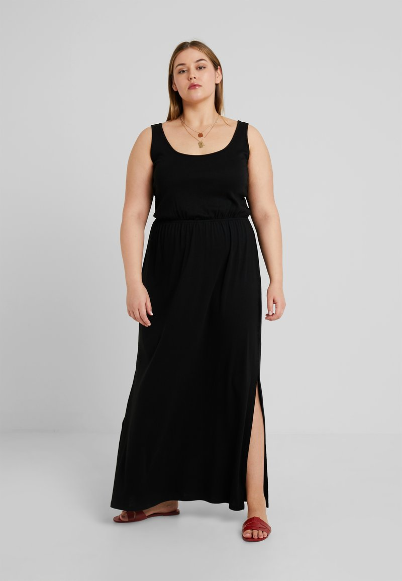 New Look Curves - TIE STRAP - Maxi dress - black