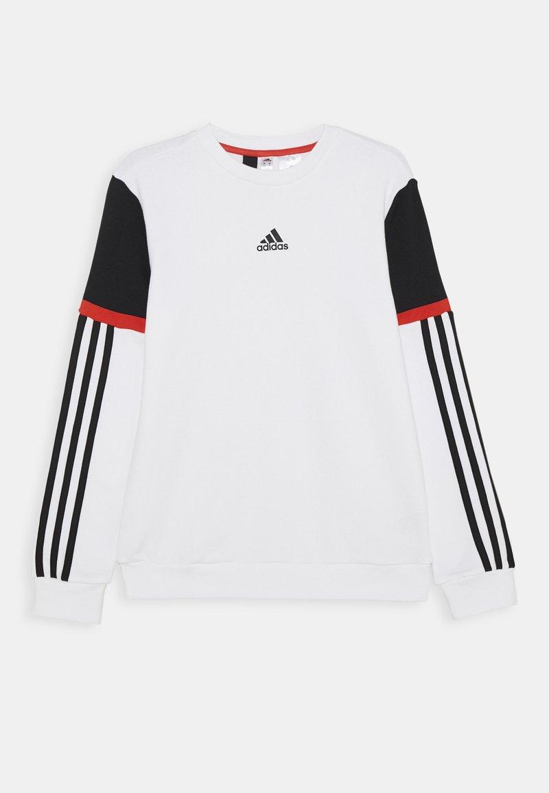 adidas Performance - BOLD CREW UNISEX - Mikina - white/black