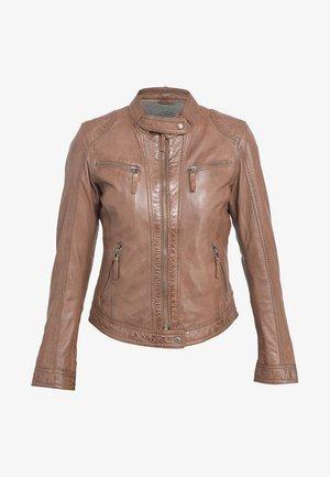HOLA - Leather jacket - camel